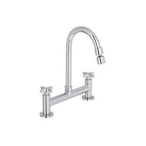 Misturador Duplocomando de mesa para cozinha Flex 1256.C20.CLM - Deca