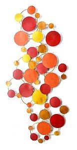 Escultura de parede Zoraida Colorido EK75