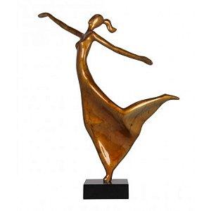 Escultura Elegância feminina Ouro