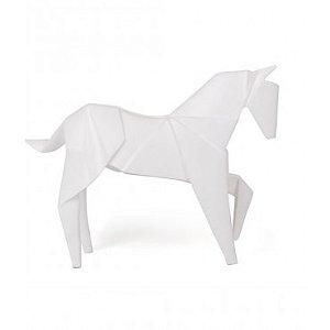 Escultura Cavalo origame branco