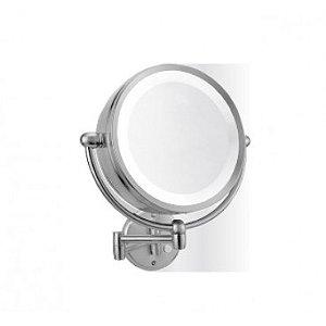 Espelho Duplo de parede com iluminação  (5x e 1x)