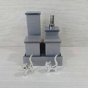 Conjunto de potes 5 peças Decor em Acrílico sem strass - Decor Acrílicos