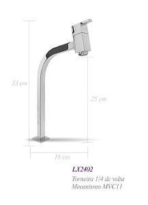 Torneira de bancada para lavatório bica alta LX2402 - Lexxa
