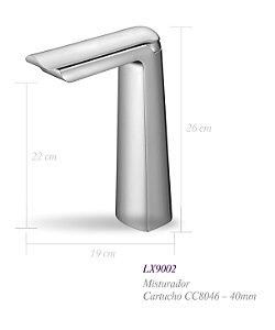 Misturador monocomando para lavatório LX9002 - Lexxa