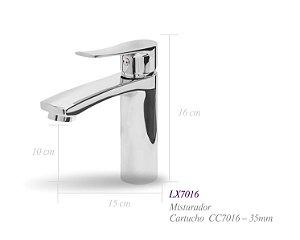 Misturador monocomando para lavatório LX7016 - Lexxa