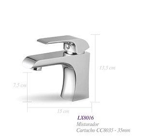 Misturador monocomando para lavatório LX8016 - Lexxa