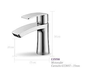 Misturador monocomando para lavatório LX9506 - Lexxa