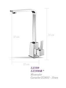 Misturador monocomando de mesa para cozinha - Lexxa