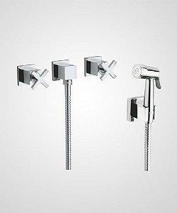 Misturador p/ ducha higiênica Quadra - Perflex