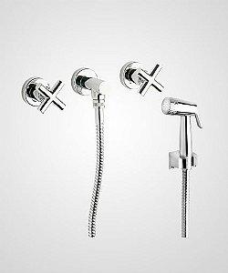 Misturador p/ ducha manual, banheira e ducha higiênica Titânio - Perflex