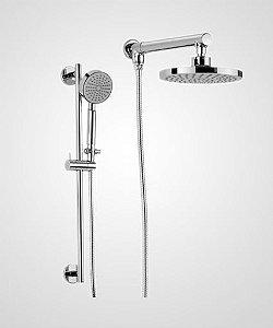 Chuveiro Slim 20cm com ducha e barra deslizante - Perflex