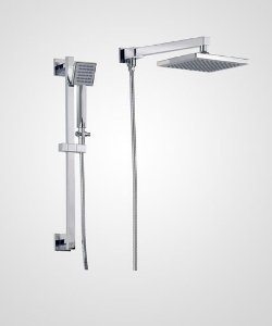 Chuveiro Trend 20cm com ducha e barra deslizante - Perflex