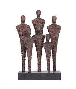 Escultura Homens - Bronze envelhecido
