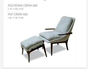 Conjunto Poltrona 042 + Puf Cintia 043 - Luccasi Mobili