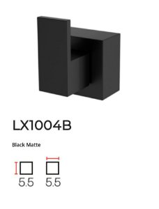Acabamento de registro Black Matte LX1004B - Lexxa