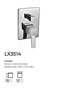 Registro Monocomando c/ desviador p/ banheira  LX3514 - Lexxa