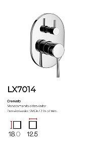 Registro Monocomando c/ desviador p/ banheira  LX7014 - Lexxa