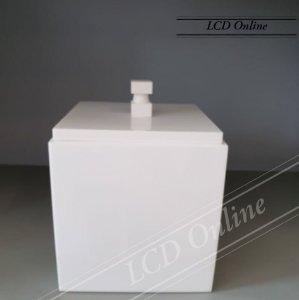 Lixeira de bancada quadrada - resina