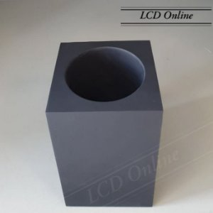 Porta escova aberto com acabamento fosco quadrado - resina
