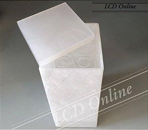 Porta escova pérola quadrado - acrílico