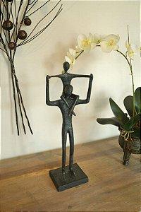 Escultura Pai e Filho - Ek74