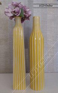Dupla de vasos amarelo