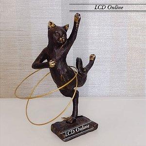 Escultura Gato Bambolê