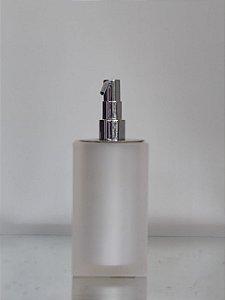 Saboneteira Líquida Quadrada Pérola com acabamento fosco - Resina