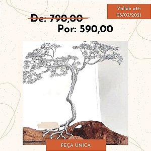 Escultura Árvore Prata