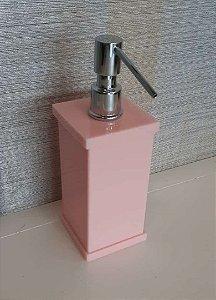 Saboneteira liquida Decor em acrílico Rosa Chá - Decor Acrílicos
