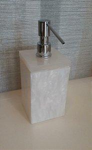 Saboneteira liquida Plus em acrilico Pérola - Decor Acrilicos