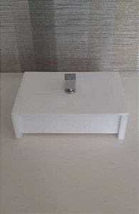Caixa Porta objetos Decor em acrílico Branco - Decor Acrílicos
