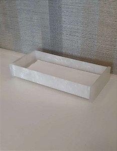 Bandeja / Porta papel toalha Organizadora em Acrílico Pérola - Decor Acrílico