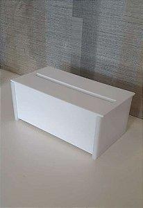 Porta papel interfolhado com tampa em Acrílico Branco - Decor Acrílicos