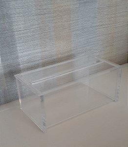 Porta papel interfolhado com tampa em Acrílico Transparente - Decor Acrílicos