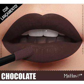Batom Líquido Matte Mahav Chocolate