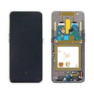 DISPLAY LCD SAMSUNG GALAXY A80 805 PADRÃO ORIGINAL COM ARO