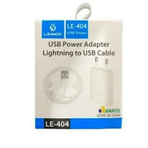 CARREGADOR TOMADA IPHONE USB COMPLETO LE-404 LEHMOX