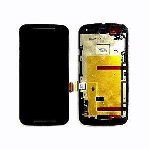 DISPLAY LCD MOTOROLA XT1063/XT1068/XT1069 MOTO G2 COMPLETO - PRETO