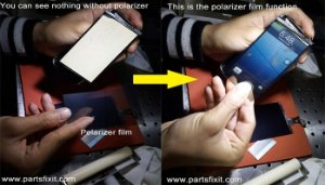ADESIVO FILME POLARIZADOR iPHONE 4G / PELICULA POLARIZADA iPHONE 4
