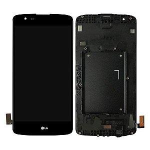 DISPLAY LCD LG K350 K8 PRETO / TELA LG K8 COMPLETA PRETA