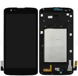 DISPLAY LCD LG LS675/MS330 K7 PRETO / TELA LG K7 COMPLETA PRETA