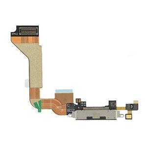CONECTOR DE CARGA iPHONE 4G COMPLETO (DOCK FLEX) PRETO