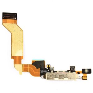 CONECTOR DE CARGA iPHONE 4S COMPLETO (DOCK FLEX) BRANCO