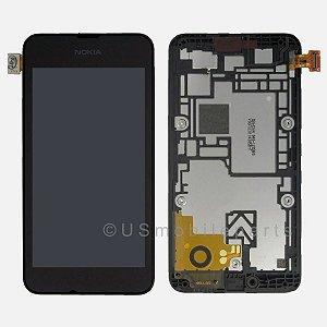 DISPLAY LCD NOKIA N530 LUMIA 530 COMPLETO - PRETO