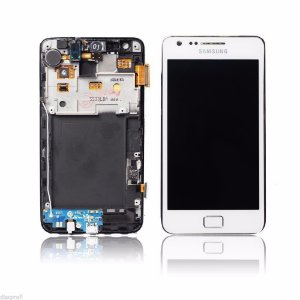 DISPLAY LCD SAMSUNG I9100 COM TOUCH BRANCO - GALAXY SII COMPLETO