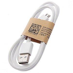 CABO DADOS SAMSUNG MICRO USB GALAXY S6 / S7 EDGE BRANCO MOD. ORIGINAL