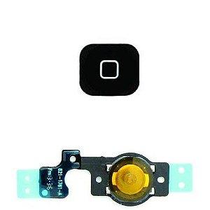 BOTÃO HOME iPHONE 5C PRETO - COM FLEX