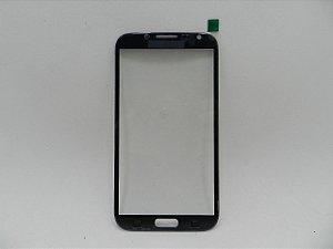 VIDRO SAMSUNG N7100 PRETO - SOMENTE VIDRO