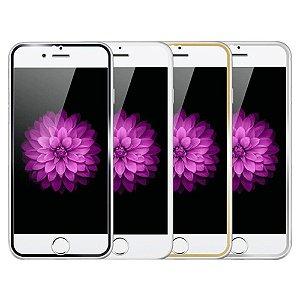 """PELICULA VIDRO IPHONE 6G PLUS ( 5.5"""")  DIANTEIRA COM BORDA DOURADA ( CURVA )"""